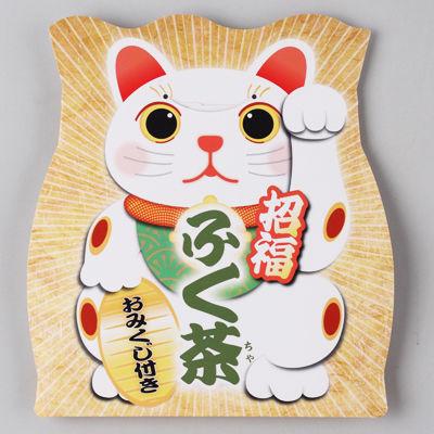 三盛物産 【100個セット】招福 ふく茶(煎茶) [煎茶ティーパック5g×2、おみく・・・