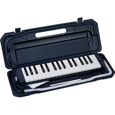 KC 鍵盤ハーモニカ メロディー ピアノ 鍵ハモ 小学校 幼稚園 音楽 P3001-32K/NV (ネイビー) 4534853706155