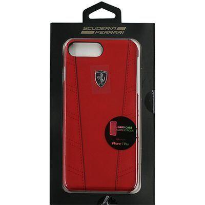 エアージェイ FERRARI PU leather Hard Case with contrasted piping - Red F・・・