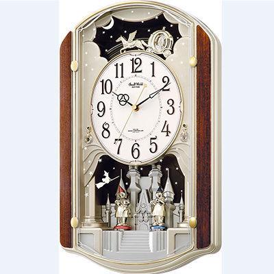 リズム時計 スモールワールド 電波壁掛け時計 4MN463RH2・・・
