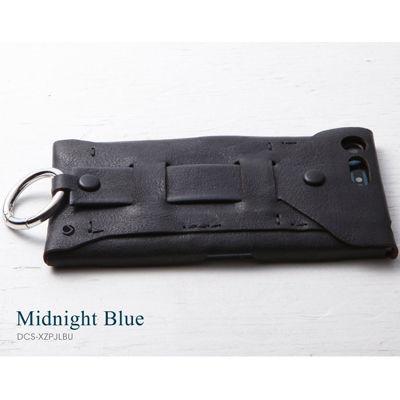 Deff Baseball Gloves Leather Case for Xperia XZ Premium ミッドナイトブル・・・