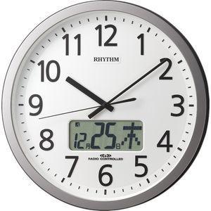 リズム時計 電波時計 掛け時計 24回プログラムチャイム機能 カレンダー 直径3・・・