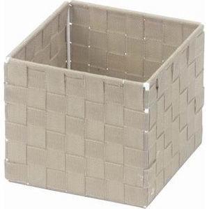 ちどり産業 小物入れ ボックス アクセサリー 文房具 ベージュ 約14.5×14.5×・・・