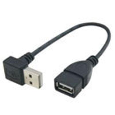 変換名人 USB Atype上L20cm延長 黒 USBA-CA20UL/BK