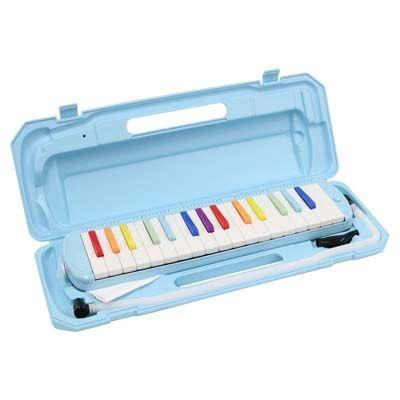 KC 鍵盤ハーモニカ メロディー ピアノ 鍵ハモ 小学校 幼稚園 音楽 P3001-32K/NIJI (虹色) 4534853502948