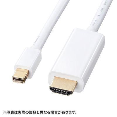 サンワサプライ ミニDisplayPort-HDMI変換ケーブル2m KC-MDPHDA20