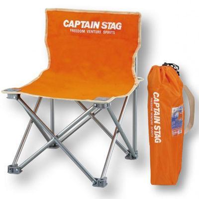 【12個セット】キャプテンスタッグ コンパクトチェアミニ1個(オレンジ) 22137・・・
