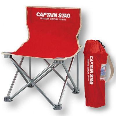 【12個セット】キャプテンスタッグ コンパクトチェアミニ1個(レッド) 221372・・・