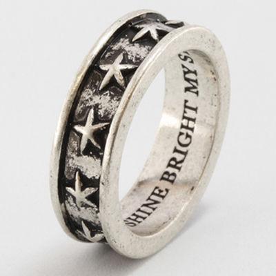 RoenBLACK ロエンブラック スター リング シルバーカラー 星 指輪 ペア ro-65・・・