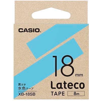 カシオ XB18RDラテコ 詰め替え用テープ 水色18mm  XB-18SB