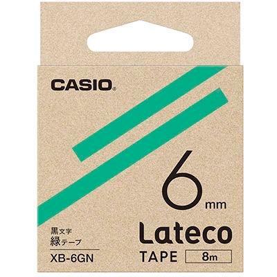 カシオ XB6GN ラテコ 詰め替え用テープ 緑6mm XB-6GN