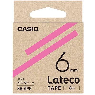 カシオ XB6PK ラテコ 詰め替え用テープ ピンク6mm XB-6PK