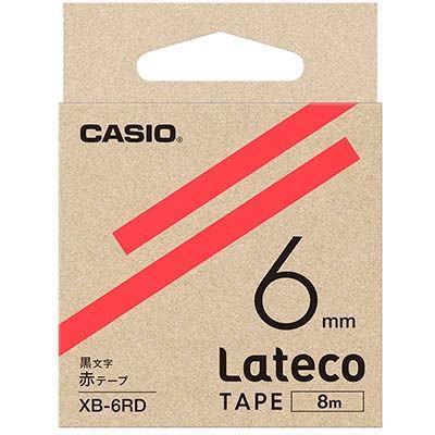 カシオ XB6RD ラテコ 詰め替え用テープ 赤6mm XB-6RD