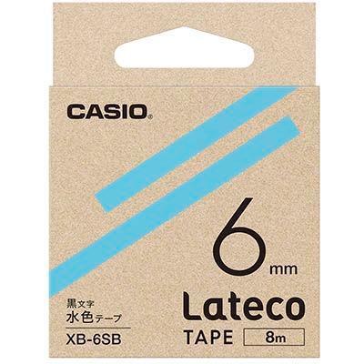 カシオ XB6SB ラテコ 詰め替え用テープ 水色6mm XB-6SB