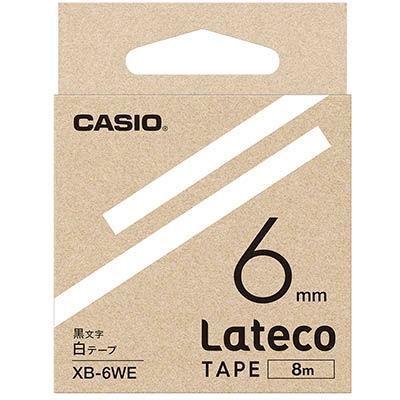 カシオ XB6WE ラテコ 詰め替え用テープ 白6mm XB-6WE