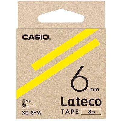 カシオ XB6YW ラテコ 詰め替え用テープ 黄6mm XB-6YW