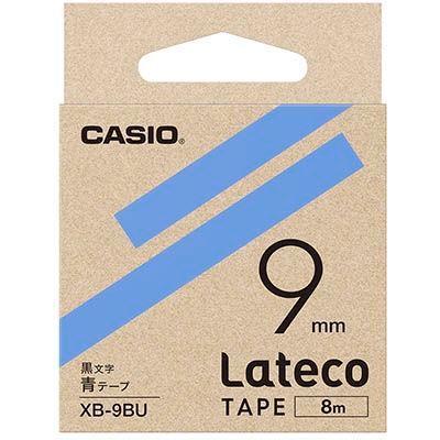 カシオ XB9BU ラテコ 詰め替え用テープ 青9mm XB-9BU