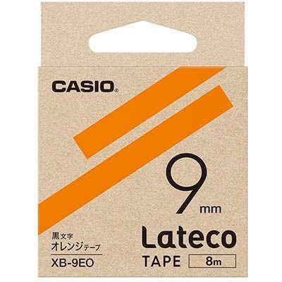 カシオ XB9EOラテコ 詰め替え用テープ オレンジ 9mm XB-9EO