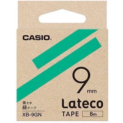 カシオ XB9GN ラテコ 詰め替え用テープ 緑9mm XB-9GN