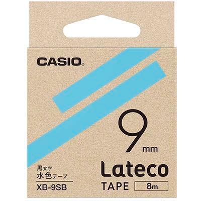 カシオ XB9SB ラテコ 詰め替え用テープ 水色9mm XB-9SB