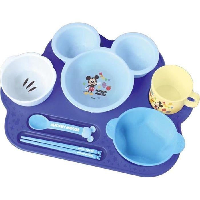 錦化成 ミッキーマウス ベビー食器セット まんぞくプレート 4904121306019