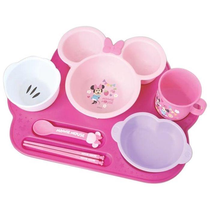 錦化成 ミニーマウス ベビー食器セット まんぞくプレート 4904121306026