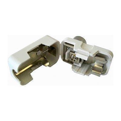 オーム電機 L字型プラグ 白 2個入り ANT-P0009D