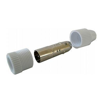 オーム電機 プッシュプラグ 白 1個入り ANT-P0013D