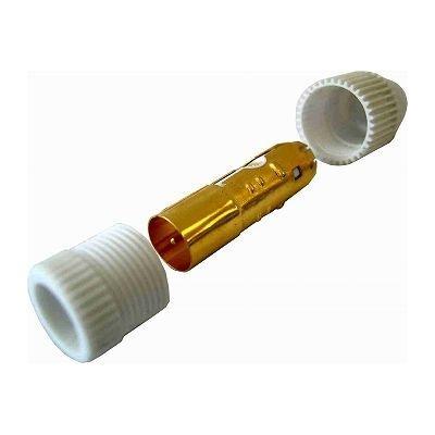 オーム電機 プッシュプラグ金メッキ白 1個入り ANT-P0015D