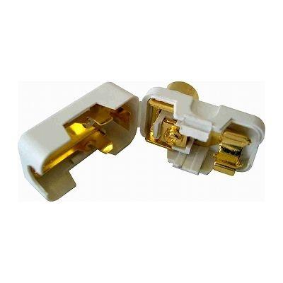 オーム電機 L字型プラグ 金メッキ白 1個入り ANT-P0021D