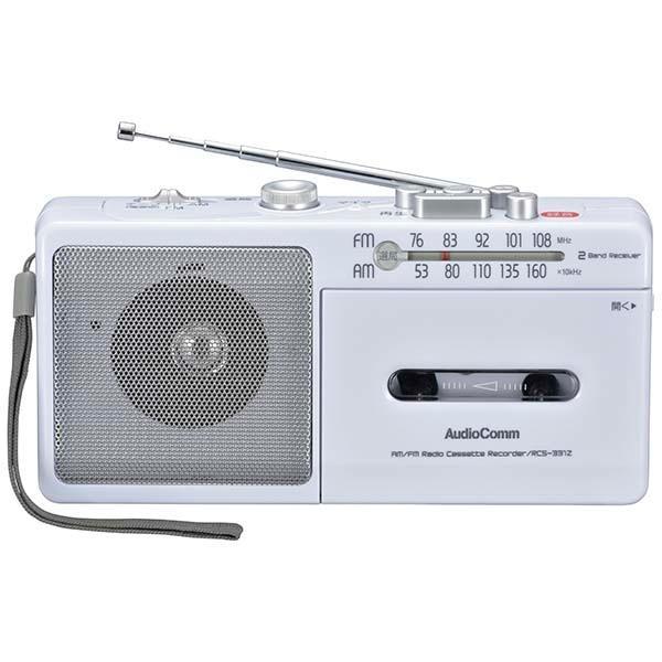 オーム電機 AM/FM モノラルラジオカセットレコーダー RCS-331Z