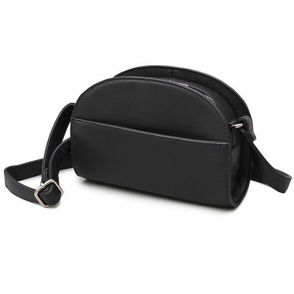 トレンド感のあるハーフムーンバッグを大人な素材感で表現 ブラック フリー 5・・・