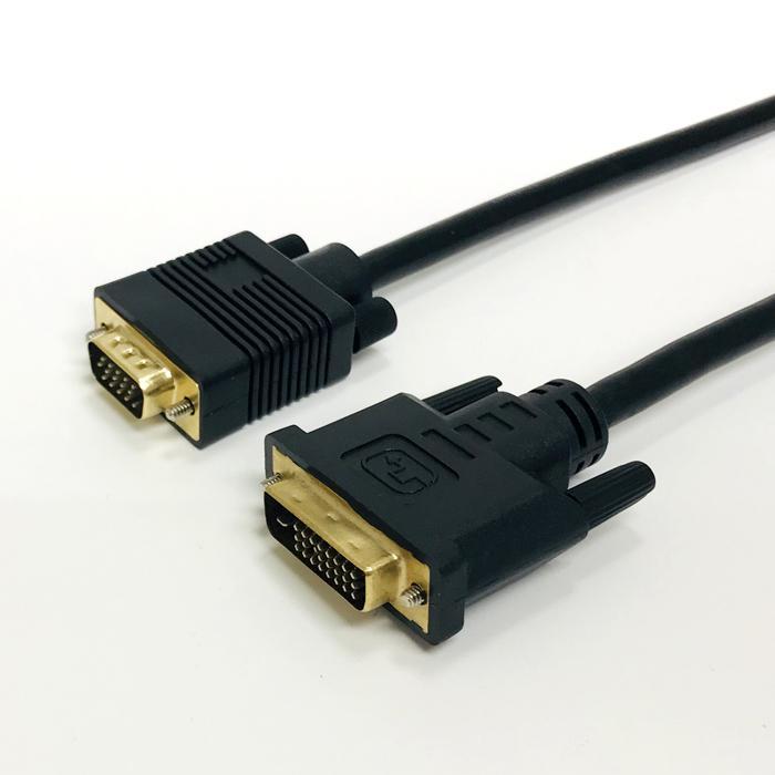 ホーリック 【メール便での発送商品】 DVI→VGA変換ケーブル 1m DVI to VGA D・・・
