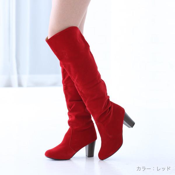 ロングニーハイブーツ○全4色!★al-1467靴/美脚/レディース 色:アカ サイズ:・・・