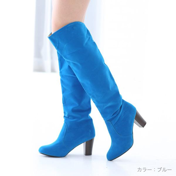 ロングニーハイブーツ○全4色!★al-1467靴/美脚/レディース 色:ブルー サイズ・・・