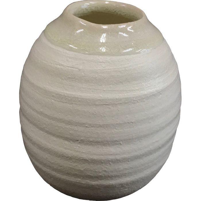 信楽焼 深呼吸 フラワーベース(ホワイト) DB-Fw(包装・のし可) 4935886706691