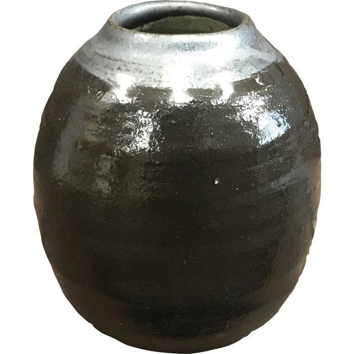 信楽焼 深呼吸 フラワーベース(ブラック) DB-Fb(包装・のし可) 4935886923111