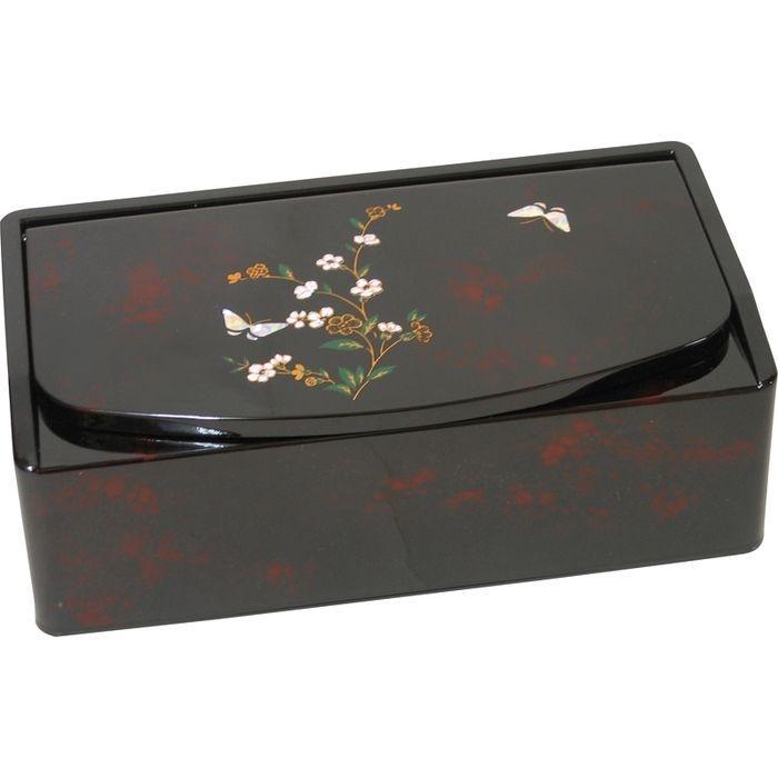 小花蝶 ティッシュボックス 鏡付 2665(包装・のし可) 4994167459084