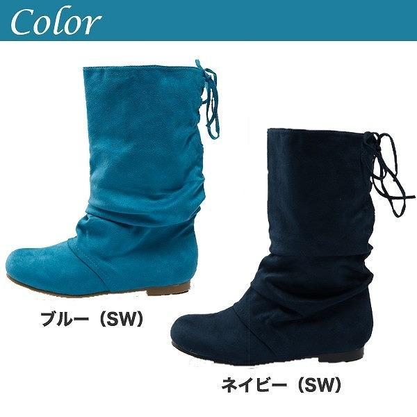 バックレースアップブーツ全12色★al-3860a靴/美脚/レディース 色:スエードネ・・・