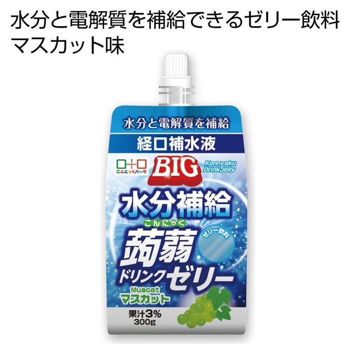 【150個セット】BIG水分補給こんにゃくドリンクゼリー マスカット味300g 2475298