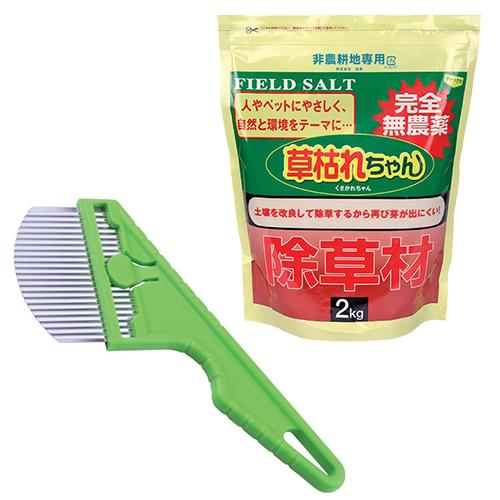 後藤 雑草ブラシ+除草材「草枯れちゃん」2kg GTO-KUSA2
