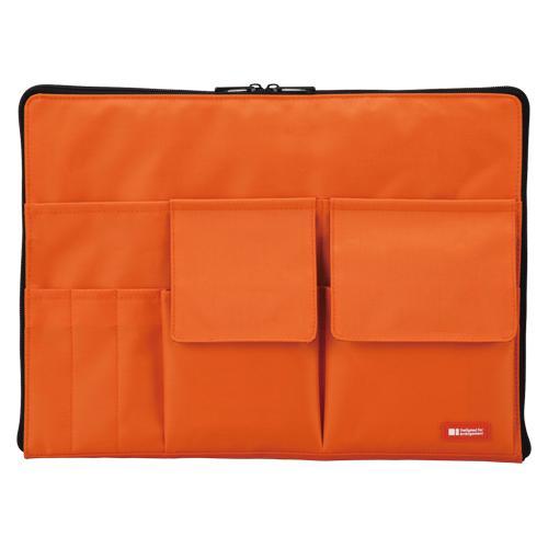 リヒトラブ バッグインバッグ A4 橙 A-7554-4 (1個) 4903419842222