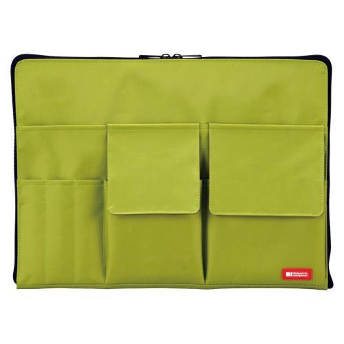 リヒトラブ バッグインバッグ A4 黄緑 A-7554-6 (1個) 4903419842239