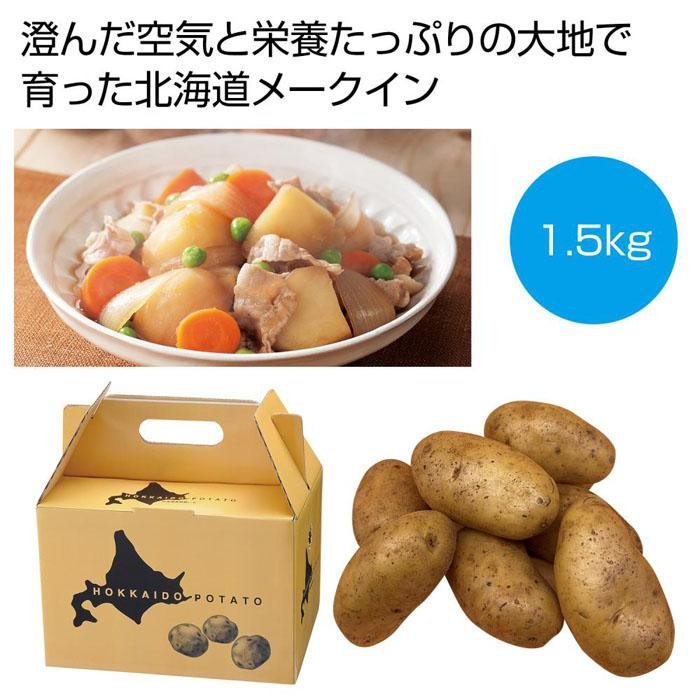 【16個セット】北海道産メークイン1.5kg 2561040