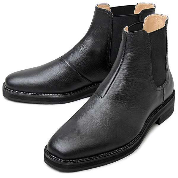 柔らかい履き心地が魅力のシンプルサイドゴア ブラック S(25.0cm-25.5cm) (S(・・・
