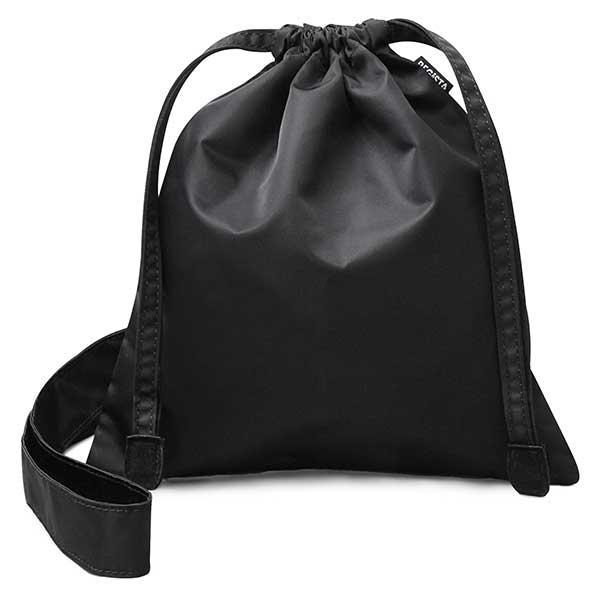 軽い使い心地がポイントの撥水ナイロン巾着バッグ ブラック フリー (フリー) ・・・