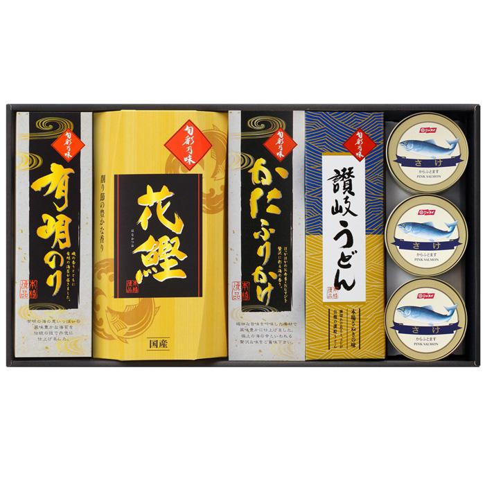 三盛物産 旬彩乃味【讃岐うどん50g×3束、かつお節15g、かにふりかけ50g、有・・・