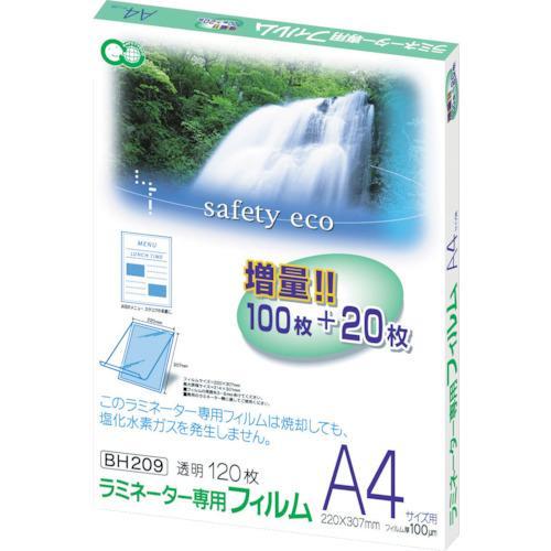 アスカ アスカ ラミネーター専用フィルム120枚 A4サイズ用 BH-209
