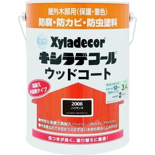 トラスコ中山 KANSAI 水性XDウッドコートS パリサンダ 3.4L tr-1528833