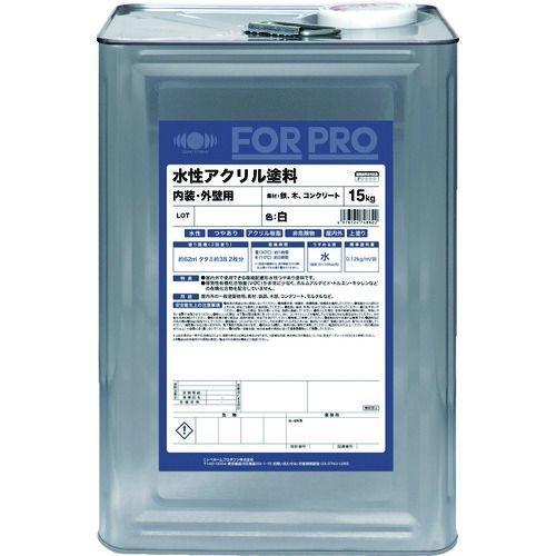 トラスコ中山 ニッぺ FORPRO水性アクリル塗料 15kg 白 tr-1588334